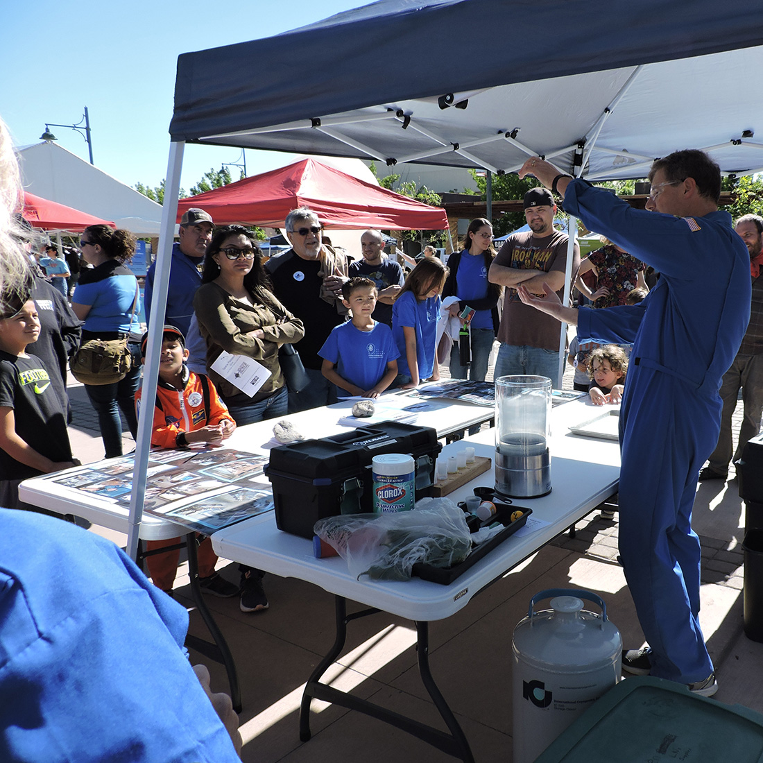 Las Cruces Space Festival Students learning at booth